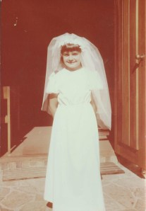All dressed up as Bride of Christ' at First Holy Communion