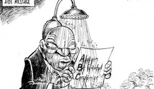 Mr Showerhead (Zapiro Cartoon)